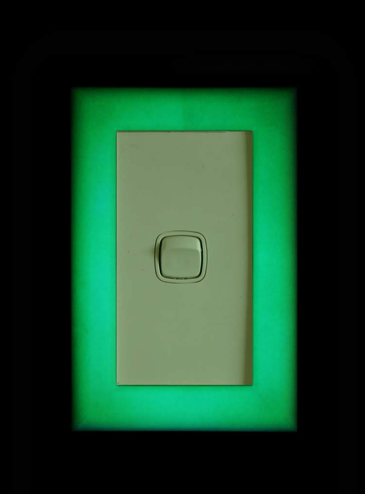 Green glow Light switch covers SPECIAL for 4- 130mm x 85mm