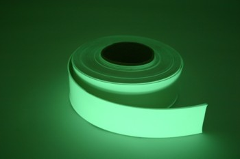 Glow ribbon 90mm wide 30 metre roll without adhesi
