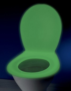 Toilet seat Green glow-NEW thicker and stronger. LAST ONE