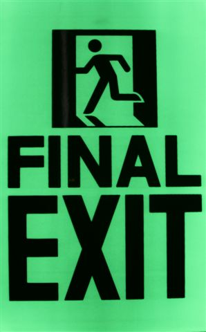 Final EXIT sign with running man 250mm x 400mm